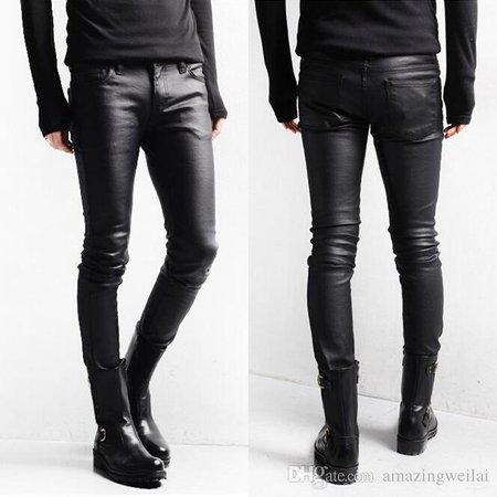 Leather-black-skinny-jeans