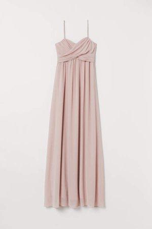 Long Bandeau Dress - Pink