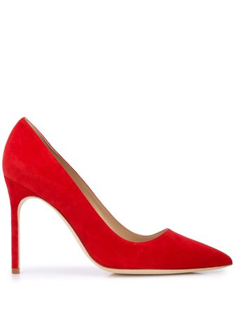 Manolo Blahnik Pointed Toe Pumps Aw19 | Farfetch.com