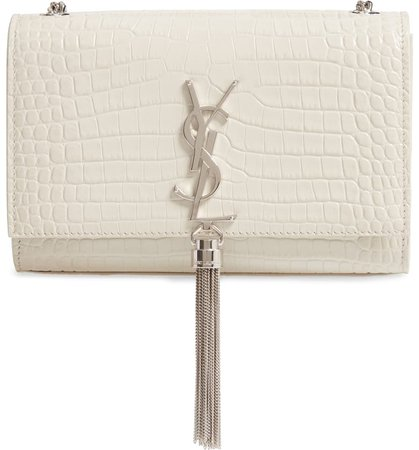 Saint Laurent Small Kate Croc Embossed Leather Shoulder Bag | Nordstrom