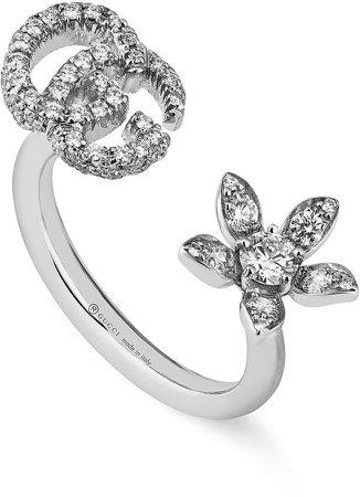 Flora Diamond Open Ring