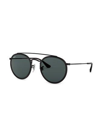 Ray-Ban RB3647 Round double-bridge Sunglasses - Farfetch