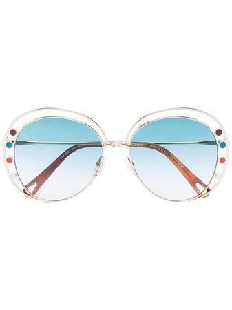 Chloé Eyewear Delilah round-frame Sunglasses - Farfetch