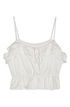 Topshop Rochelle Ruffle Charmeuse Camisole | Nordstrom