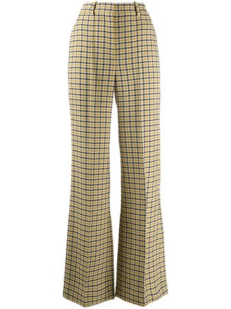 Victoria Beckham Check Print Trousers