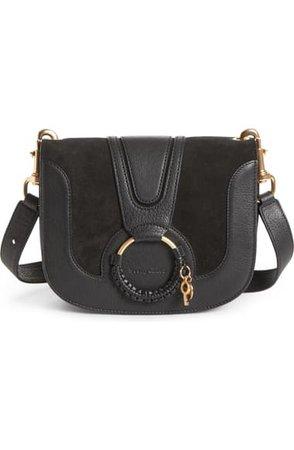 See by Chloé Hana Suede & Leather Shoulder Bag | Nordstrom