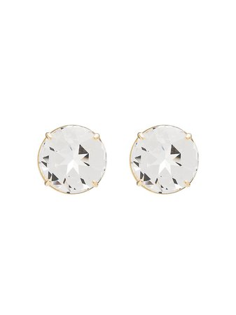 Miu Miu Large Round Crystal Stud Earrings | Farfetch.com