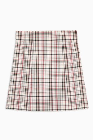 Check Mini Skirt | Topshop