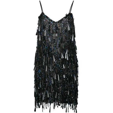 Black Sequin Short Dress