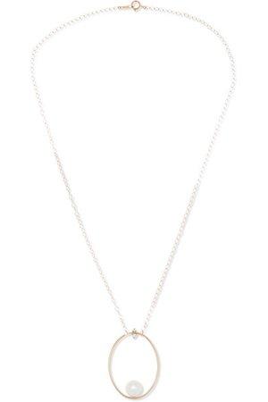 Mizuki   14-karat gold, diamond and pearl necklace   NET-A-PORTER.COM