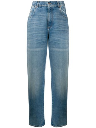 Gucci Logo Patch straight-leg Jeans - Farfetch