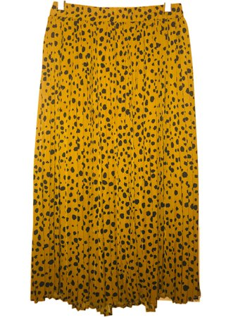 cheetah pleated skirt