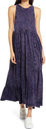 Stonewash Sleeveless Maxi Dress
