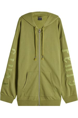Zipped Hoodie with Cotton Gr. L