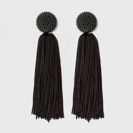 SUGARFIX By BaubleBar Beaded Studs Tassel Drop Earrings - Black : Target