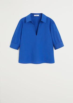 Short sleeved cotton shirt - Women | Mango USA