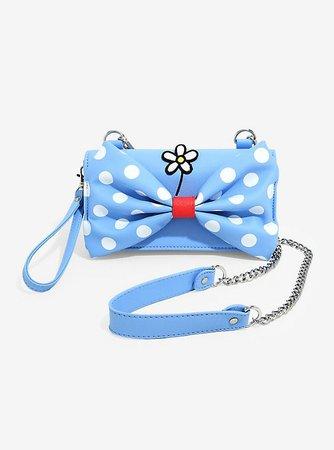 Loungefly Disney Minnie Mouse Retro Polka Dot Bow Crossbody Bag