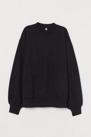 Oversized Sweatshirt - Black - Ladies | H&M US