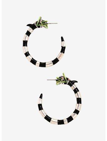 Beetlejuice Sandworm Hoop Earrings
