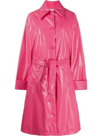 pink MM6 Maison Margiela trench coat