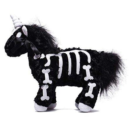 Amazon.com: Littleforbig Uniskelly Skeleton Unicorn Stuffed Animal Plush Shoulder Bag Purse Black: Shoes