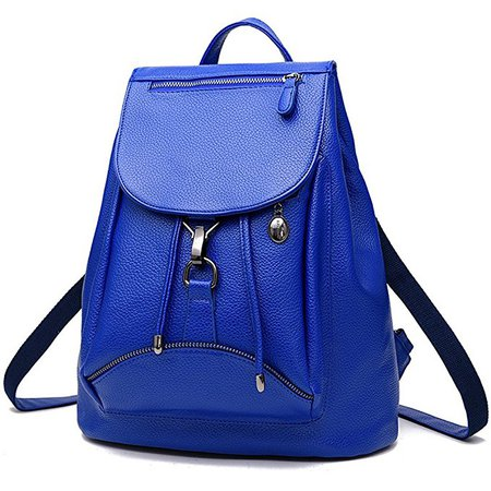 Amazon.com | BOBILIKE Women Leather Backpack Purse Casual Travel Shoulder Bags Cute Daypacks, Blue | Backpacks