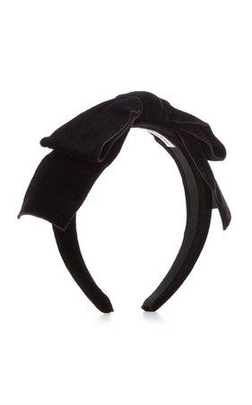 Velvet Bow Headband By Alessandra Rich   Moda Operandi