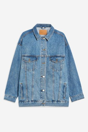 Blue Dad Oversized Denim Jacket | Topshop