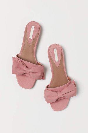 Suede Slides - Pink