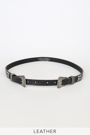 Ana Bru by B-low the Belt Lasso - Black Belt - Leather Belt - Lulus
