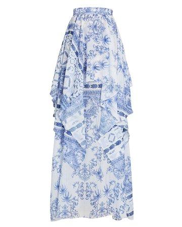 PatBO Amalfi Chiffon Maxi Skirt | INTERMIX®