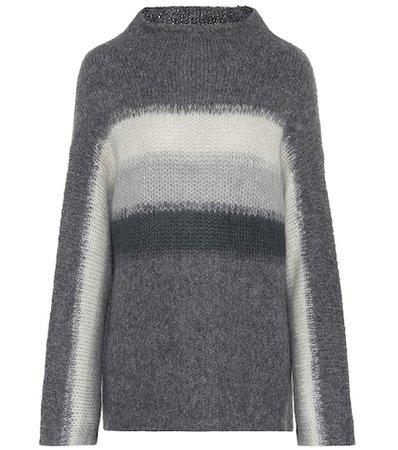 Wool and alpaca mockneck sweater