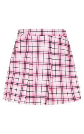Stone Check Scuba Pleated Mini Skirt   PrettyLittleThing USA
