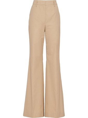 Prada high-waisted Flared Trousers - Farfetch