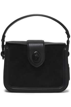 Leather and suede shoulder bag | COACH | Sale up to 70% off | THE OUTNET