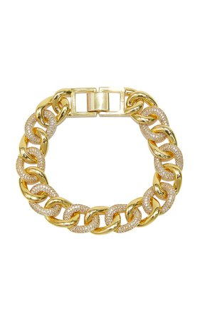 Curb Gold-Plated Brass Bracelet By Fallon   Moda Operandi