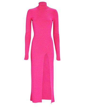 Zeynep Arcay Turtleneck Rib Knit Midi Dress | INTERMIX®