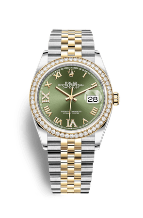 Rolex Datejust 36 Watch: Yellow Rolesor - combination of Oystersteel and 18 ct yellow gold - M126283RBR-0011