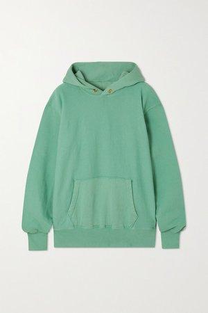 Cotton-jersey Hoodie - Green