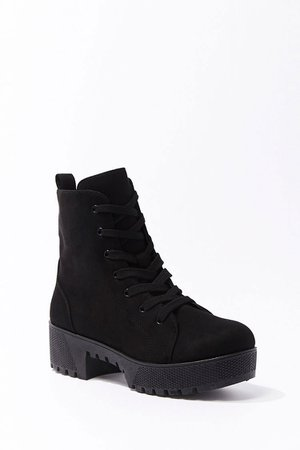 Faux Suede Combat Boots | Forever 21