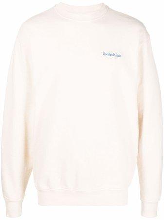 Sporty & Rich embroidered-logo Sweatshirt - Farfetch