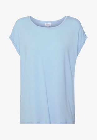 Vero Moda VMAVA PLAIN - Basic T-shirt - placid blue - Zalando.co.uk