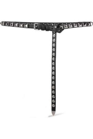 PRADA Studded textured-leather belt
