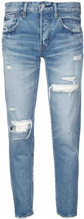 Vintage distressed boyfriend jeans