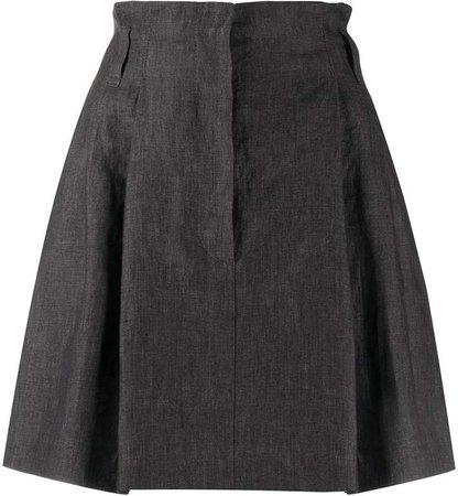 linen A-line shape skirt