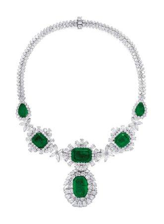 EMERALD AND DIAMOND NECKLACE, SANZ | 1960s, Jewelry | Christie's