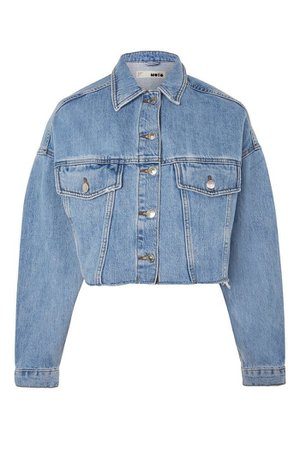 Hacked Off Crop Denim Jacket | Topshop