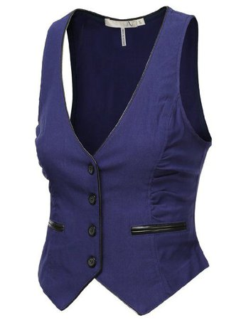 purple waistcoat