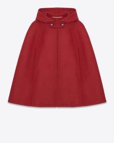 Saint Laurent Red cape