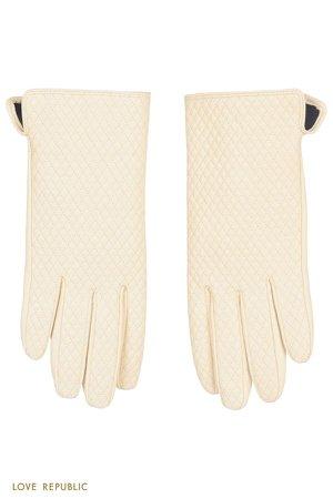 Фактурные перчатки из натуральной кожи 044917003-60 - купить в интернет-магазине LOVE REPUBLIC по цене: 1 799 руб
